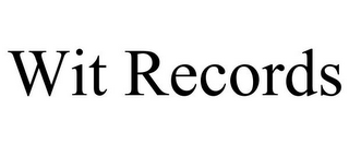 mark for WIT RECORDS, trademark #85618463
