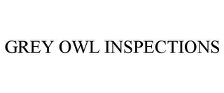 mark for GREY OWL INSPECTIONS, trademark #85618600
