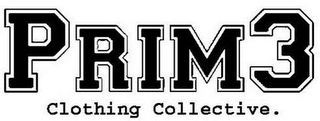 mark for PRIM3 CLOTHING COLLECTIVE., trademark #85618650