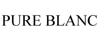 mark for PURE BLANC, trademark #85619144