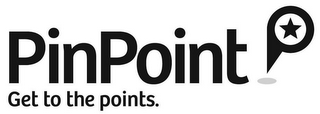 mark for PINPOINT GET TO THE POINTS, trademark #85620475