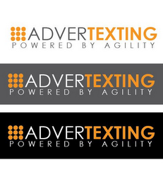 mark for ADVERTEXTING POWERED BY AGILITY, trademark #85621695