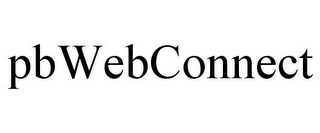mark for PBWEBCONNECT, trademark #85622058
