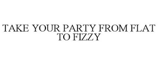 mark for TAKE YOUR PARTY FROM FLAT TO FIZZY, trademark #85622068