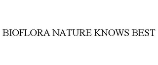 mark for BIOFLORA NATURE KNOWS BEST, trademark #85622256