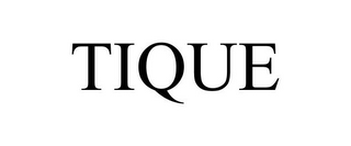 mark for TIQUE, trademark #85622555
