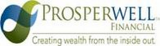 mark for PROSPERWELL FINANCIAL, CREATING WEALTH FROM THE INSIDE OUT., trademark #85623195