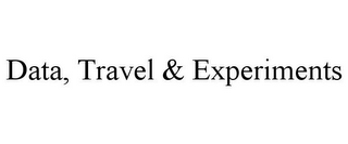 mark for DATA, TRAVEL & EXPERIMENTS, trademark #85623755