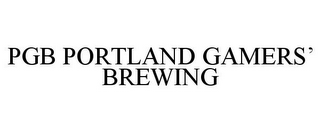 mark for PGB PORTLAND GAMERS' BREWING, trademark #85624150