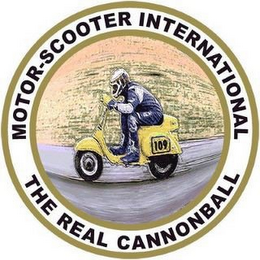 mark for MOTOR-SCOOTER INTERNATIONAL THE REAL CANNONBALL, trademark #85624384