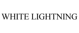 mark for WHITE LIGHTNING, trademark #85624388