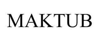 mark for MAKTUB, trademark #85624844