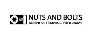 mark for NUTS AND BOLTS BUSINESS TRAINING PROGRAMS, trademark #85625049