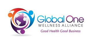mark for GLOBAL ONE WELLNESS ALLIANCE GOOD HEALTH GOOD BUSINESS, trademark #85625816