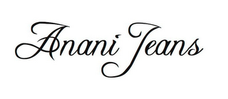 mark for ANANI JEANS, trademark #85625979