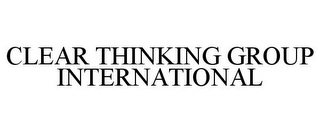 mark for CLEAR THINKING GROUP INTERNATIONAL, trademark #85627335