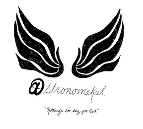 "mark for ASTRONOMEKAL ""NOTHING'S TOO BIG FOR GOD"", trademark #85627582"