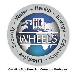 mark for ITT ALUMNI - WHEELS WATER - HEALTH - ENERGY - EDUCATION - LIFESTYLES - SECURITY -, trademark #85627893