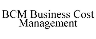 mark for BCM BUSINESS COST MANAGEMENT, trademark #85627902