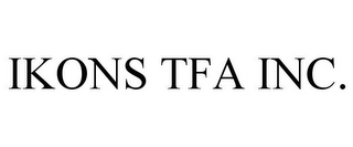mark for IKONS TFA INC., trademark #85627939