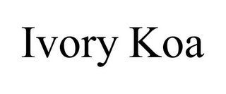 mark for IVORY KOA, trademark #85627984