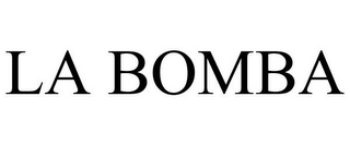 mark for LA BOMBA, trademark #85628445