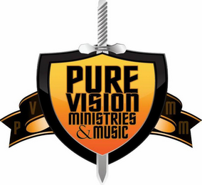 mark for PURE VISION MINISTRIES & MUSIC P V M M, trademark #85628753