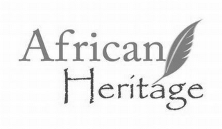 mark for AFRICAN HERITAGE, trademark #85629544