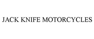 mark for JACK KNIFE MOTORCYCLES, trademark #85630252