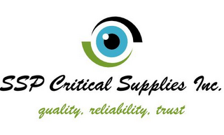 mark for SSP CRITICAL SUPPLIES INC. QUALITY. RELIABILITY. TRUST, trademark #85630331