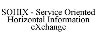 mark for SOHIX - SERVICE ORIENTED HORIZONTAL INFORMATION EXCHANGE, trademark #85630412
