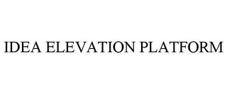 mark for IDEA ELEVATION PLATFORM, trademark #85631462