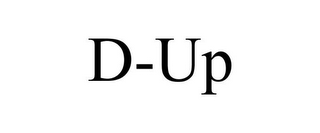 mark for D-UP, trademark #85631815