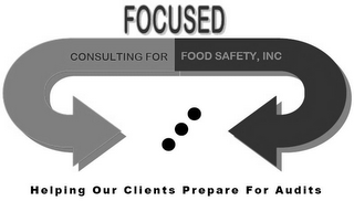 mark for FOCUSED CONSULTING FOR FOOD SAFETY, INC. HELPING OUR CLIENTS PREPARE FOR AUDITS, trademark #85632090