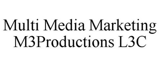 mark for MULTI MEDIA MARKETING M3PRODUCTIONS L3C, trademark #85632403