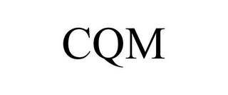 mark for CQM, trademark #85634247