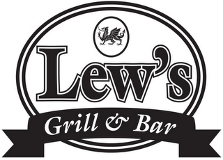 mark for LEW'S GRILL & BAR, trademark #85634288