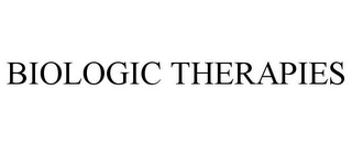 mark for BIOLOGIC THERAPIES, trademark #85634320