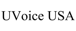 mark for UVOICE USA, trademark #85634711
