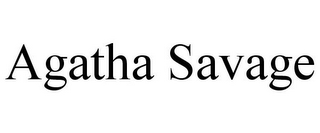 mark for AGATHA SAVAGE, trademark #85634876