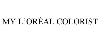 mark for MY L'ORÉAL COLORIST, trademark #85635333