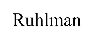 mark for RUHLMAN, trademark #85637021