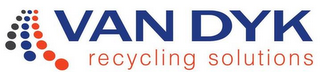 mark for VAN DYK RECYCLING SOLUTIONS, trademark #85637066