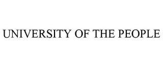 mark for UNIVERSITY OF THE PEOPLE, trademark #85637088