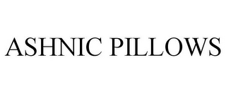 mark for ASHNIC PILLOWS, trademark #85637179