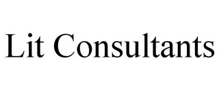 mark for LIT CONSULTANTS, trademark #85637574