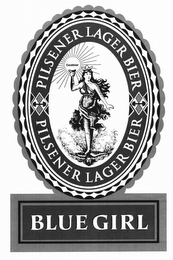 mark for PILSENER LAGER BIER BLUE GIRL EXCELSIOR, trademark #85637906