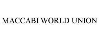 mark for MACCABI WORLD UNION, trademark #85638090