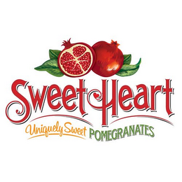 mark for SWEETHEART UNIQUELY SWEET POMEGRANATES, trademark #85638118