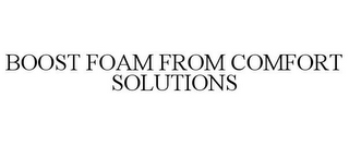 mark for BOOST FOAM FROM COMFORT SOLUTIONS, trademark #85638145